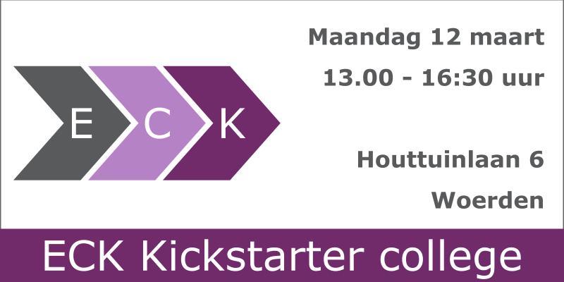 12 maart 2018 – ECK Kickstarter College