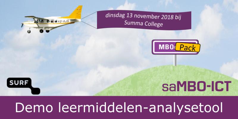 Kennismaking Leermiddelen Analyse Tool – dinsdagmiddag 13 november 2018