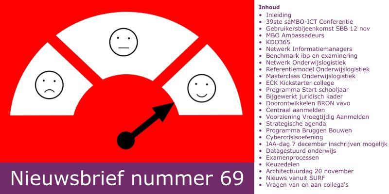 Nieuwsbrief nummer 69 is uit