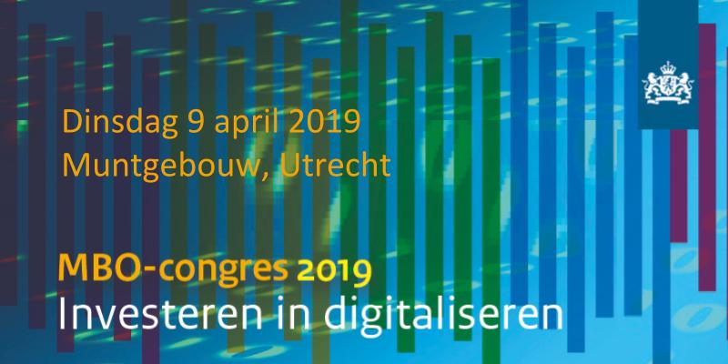 Uitnodiging MBO Congres op 9 april 2019